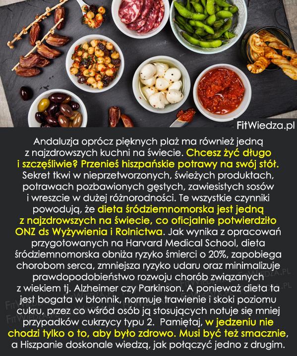 Kuchnia Hiszpańska Przepis Na Długie życie Fitwiedzapl